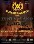Official MUSIC AS A WEAPON 4 Tour Poster