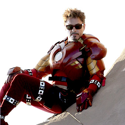 ROBERT DOWNEY JR. ON The Set Of 'IRON MAN 2'