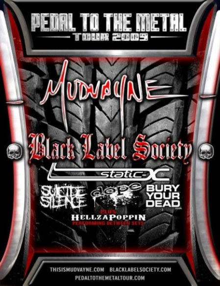 The PEDAL TO THE METAL Tour