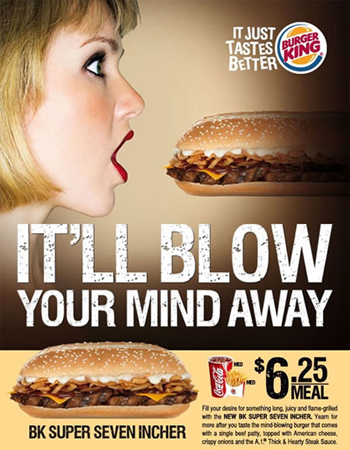 Burger King Ads: It's Either This Or That Creepy King Dude...
