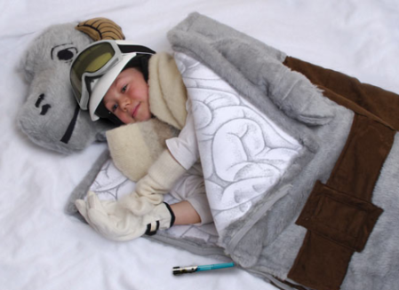 STARS WARS: TAUNTAUN Sleeping Back - Comes Complete With Lightsaber Zipper and an entrail pattern on the inner lining!