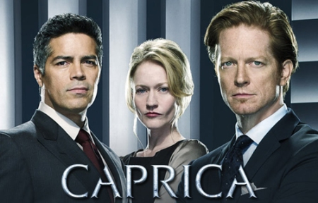 The Cast Of 'CAPRICA': ESAI MORALES, PAULA MALCOMSON, And ERIC STOLTZ