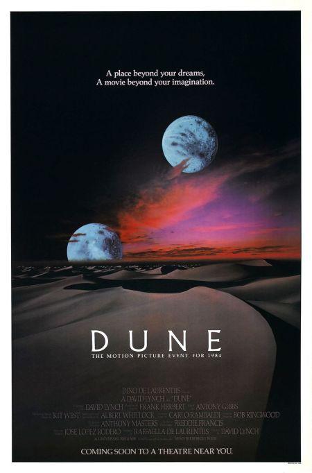 'DUNE' (DAVID LYNCH Version) Movie Poster circa 1984