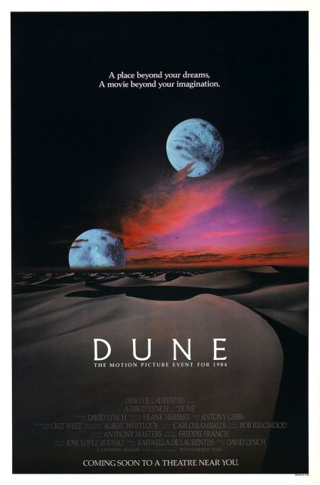 'DUNE' (DAVID LYNCH Version) Movie Poster circa 1984