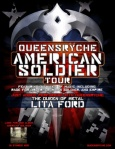 QUEENSRYCHE 'AMERICAN SOLDIER' Tour Poster