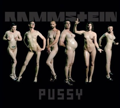 RAMMSTEIN: Album Artwork for 'PUSSY' Single