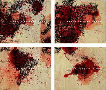 The 4 covers for the new SLAYER album; 'WORLD PAINTED BLOOD'