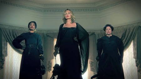(from left to right) ANGELA BASSETT, JESSICA LANGE, and KATHY BATES star in AMERICAN HORROR STORY: COVEN